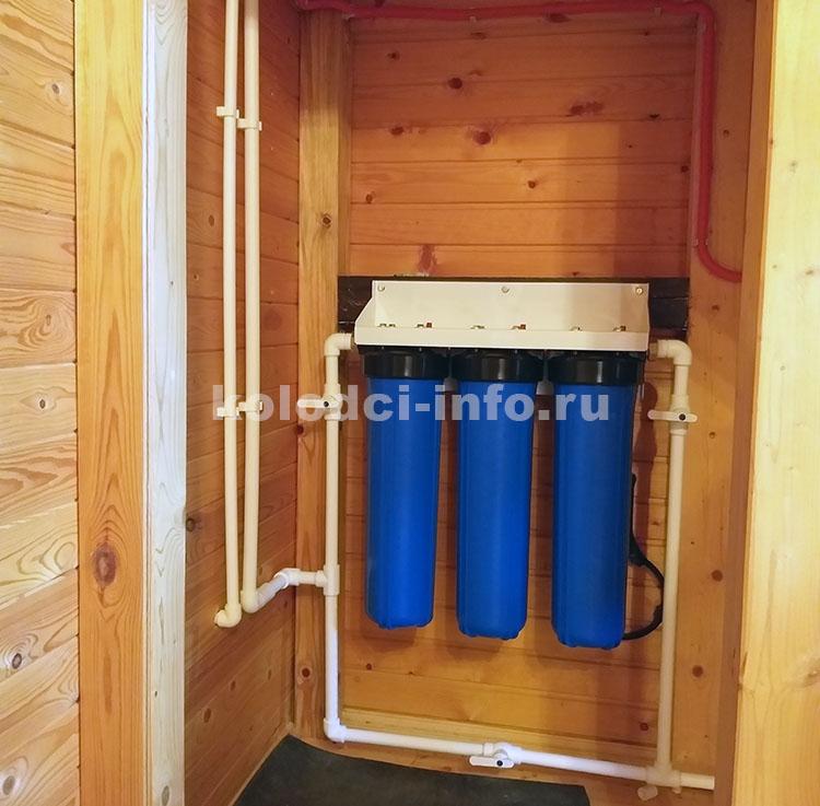 система фильтрации в водопроводе дома